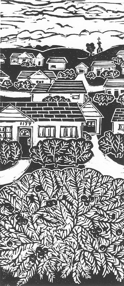 Pleasant Valley - block print
