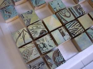 imprints - inked blocks