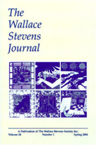 Wallace Stevens Journal cover